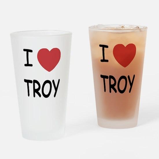 I heart Troy Drinking Glass