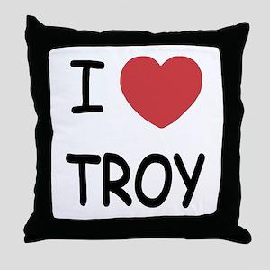 I heart Troy Throw Pillow