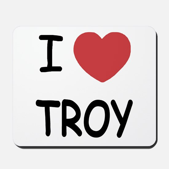 I heart Troy Mousepad