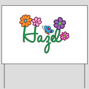 Hazel Flowers Yard Sign