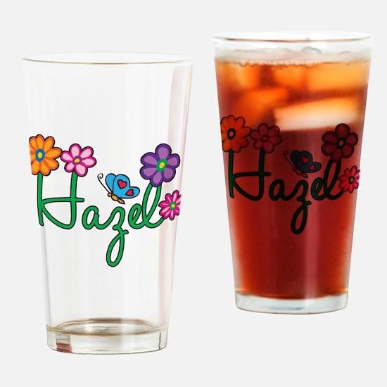Hazel Flowers Drinking Glass