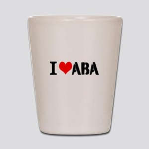 I Heart ABA Shot Glass