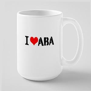I Heart ABA Large Mug