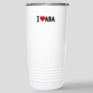 I Heart ABA Stainless Steel Travel Mug