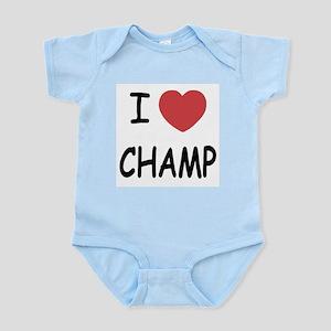 I heart Champ Infant Bodysuit