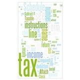 Income tax Wrapped Canvas Art