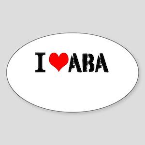 I Heart ABA Sticker (Oval)