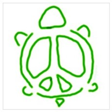 Peace turtle Poster