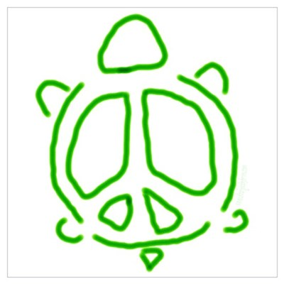 Peace turtle Canvas Art