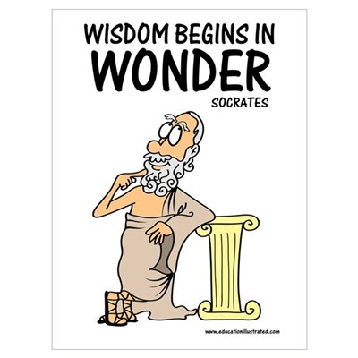 Wisdom Begins in Wonder Framed Print