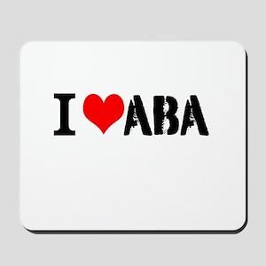 I Heart ABA Mousepad