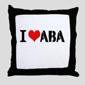 I Heart ABA Throw Pillow