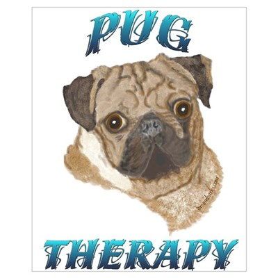Pug Therapy Framed Print