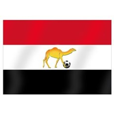 Egypt Camel Soccer Flag Canvas Art