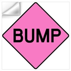 BABY BUMP (PINK) Wall Decal