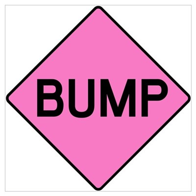 BABY BUMP (PINK) Poster