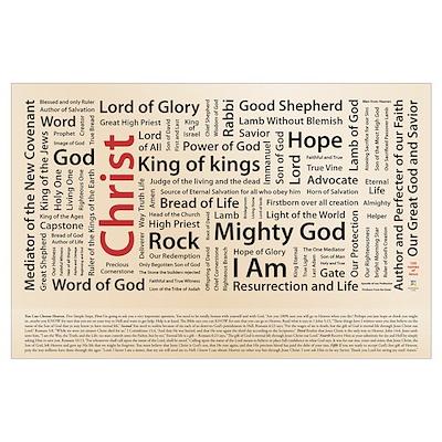 100 names of Jesus - American Spelling Poster