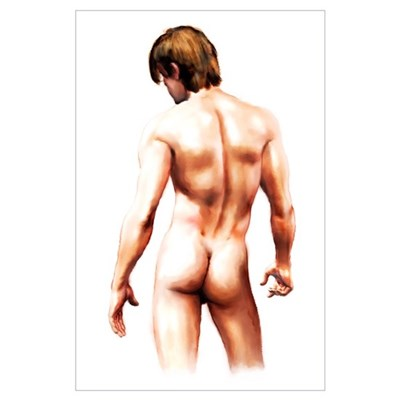 Male Nude Back Poster
