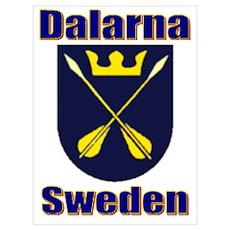 Dalarna Shield Poster