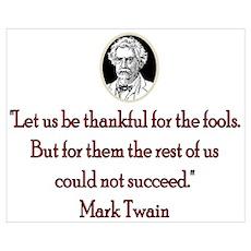 Mark Twain Fools Poster