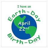 Earth day birthday Framed Prints