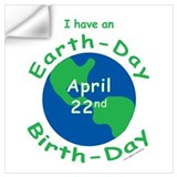 Earth day birthday Wall Decals