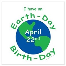 Earth Day Birthday Framed Print