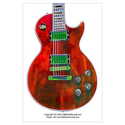 """Foil Red"" Guitar Poster"