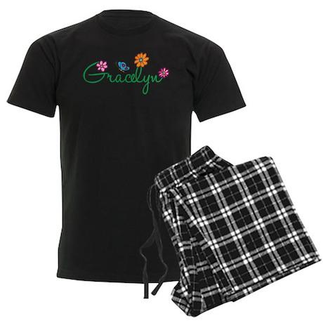 Gracelyn Flowers Men's Dark Pajamas