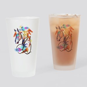 Bright Horse Drinking Glass