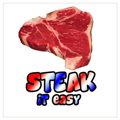Steak it easy Canvas Art