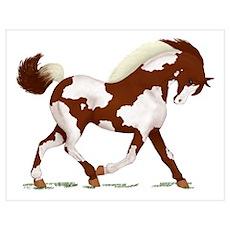 Chestnut Overo Horse Poster