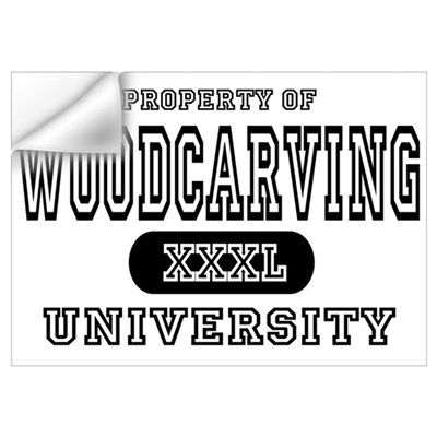 Woodcarving University Wall Decal