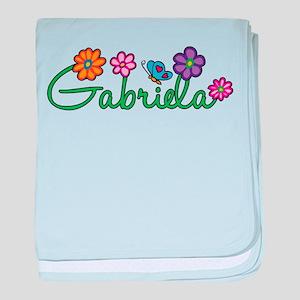 Gabriela Flowers baby blanket