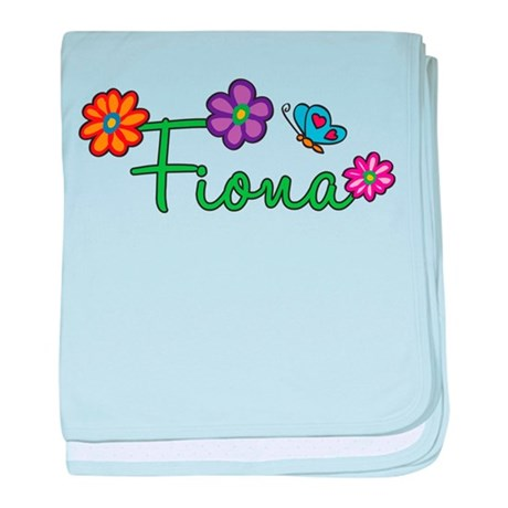 Fiona Flowers baby blanket