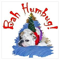 Bah Humbug II Bulldog Poster