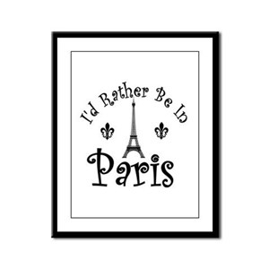 PARIS Framed Panel Print
