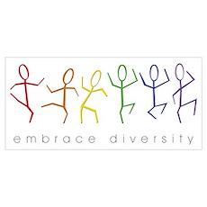 dancing rainbow Poster