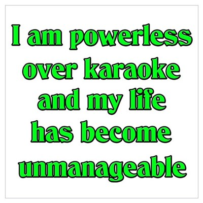 Powerless over Karaoke Poster