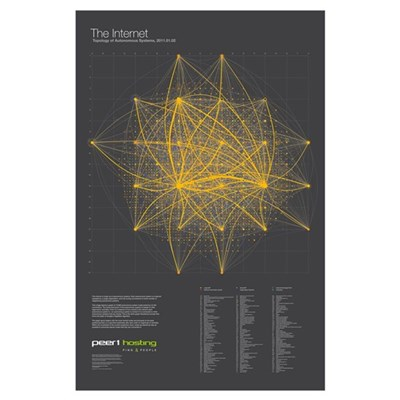 Map of the Internet 2011 Poster