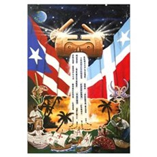 NEW!!! PUERTO RICAN PRIDE Canvas Art