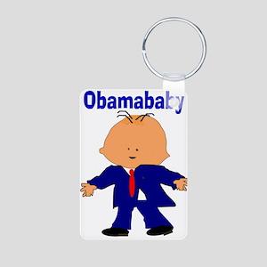 Obama baby 11 Aluminum Photo Keychain