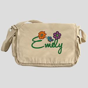 Emely Flowers Messenger Bag