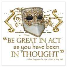 King John Quote Framed Print