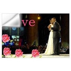 Barack & Michelle Love Wall Decal