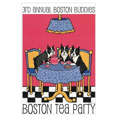boston buddies boston tea par poster