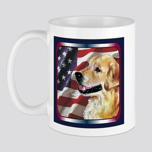 Golden Retriever USA Flag Mug
