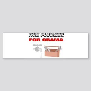 This plumber for Obama Sticker (Bumper 10 pk)