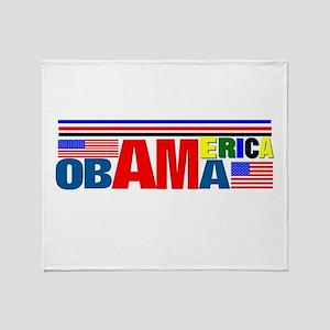 Obama America Throw Blanket