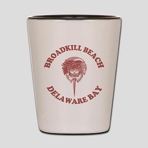 Broadkill Beach DE - Horseshoe Crab Design Shot Gl